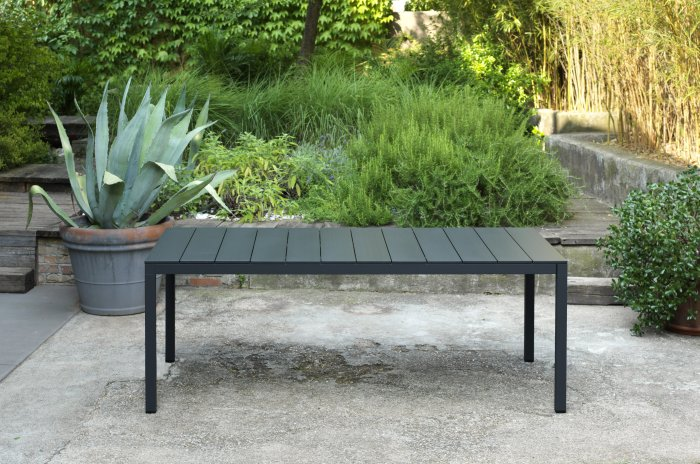 Extendable Outdoor Dining Set NZ - Native Length (Rio 210/280 Alu in Charcoal)