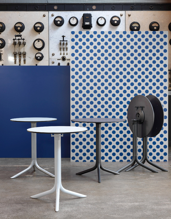 NARDI Flute and Break Table Bases with HPL Tops