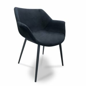 ByDezign Mendoza Plush Dining Chair - Jet