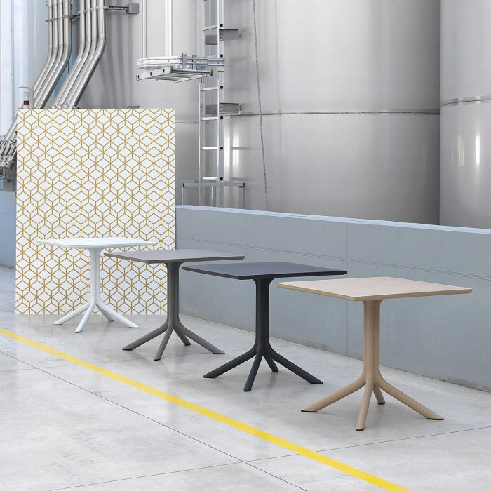 Outdoor Tables NZ Clip 80 Tables in NARDI Factory