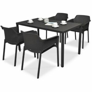 NARDI Net Cube-140 5-Piece Patio Set - Charcoal