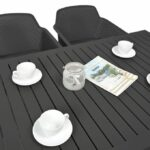 Net Cube-140 5-Piece Patio Set – Charcoal (Table Top & Chairs)