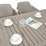 Net Cube-140 5-Piece Patio Set – Taupe (Table Top & Chairs)
