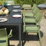 Rio Alu Trill 8-Seater Outdoor Dining Set – Charcoal Table & Olive Green Chairs (Gallery) (2)