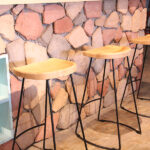 Tractor Seat Wire Bar Stools at Bar