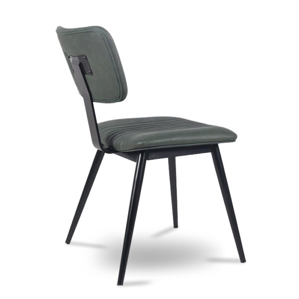 ByDezign Aviator Mid-Century Modern Dining Chair - Green (Angle)