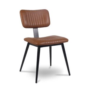ByDezign Aviator Mid-Century Modern Dining Chair - Tan