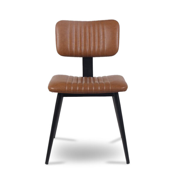 ByDezign Aviator Mid-Century Modern Dining Chair - Tan (Front)