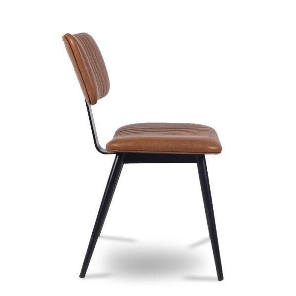 ByDezign Aviator Mid-Century Modern Dining Chair - Tan (Profile)