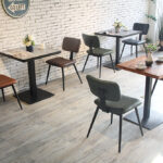 Aviator Mid-Century Modern Dining Chair in a Cafe