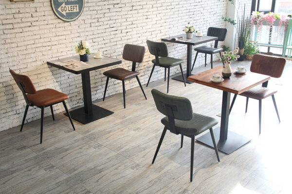 ByDezign Aviator Mid-Century Modern Dining Chair in a Cafe