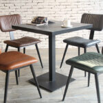 Aviator Mid-Century Modern Dining Chairs Around a Cafe Table