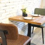 Aviator Mid-Century Modern Dining Chairs in Tan & Green