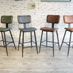 Aviator Mid-Century Modern Tall Bar Stool Colour Range