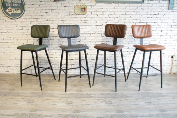ByDezign Aviator Mid-Century Modern Tall Bar Stool Colour Range