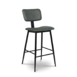 Aviator Mid-Century Modern Tall Bar Stool – Green