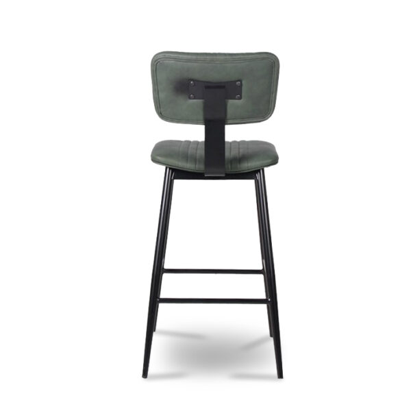 ByDezign Aviator Mid-Century Modern Tall Bar Stool - Green (Back)