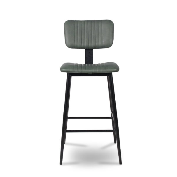 ByDezign Aviator Mid-Century Modern Tall Bar Stool - Green (Front)