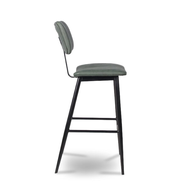 ByDezign Aviator Mid-Century Modern Tall Bar Stool - Green (Profile)