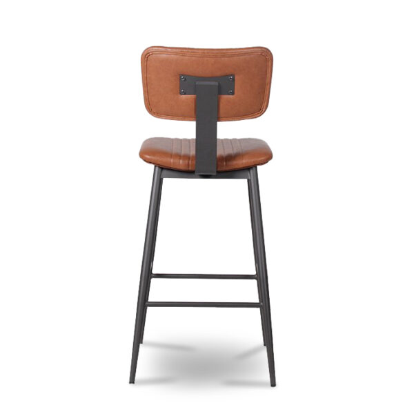 ByDezign Aviator Mid-Century Modern Tall Bar Stool - Tan (Back)