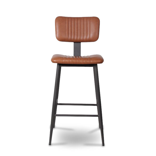ByDezign Aviator Mid-Century Modern Tall Bar Stool - Tan (Front)