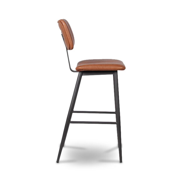 ByDezign Aviator Mid-Century Modern Tall Bar Stool - Tan (Profile)
