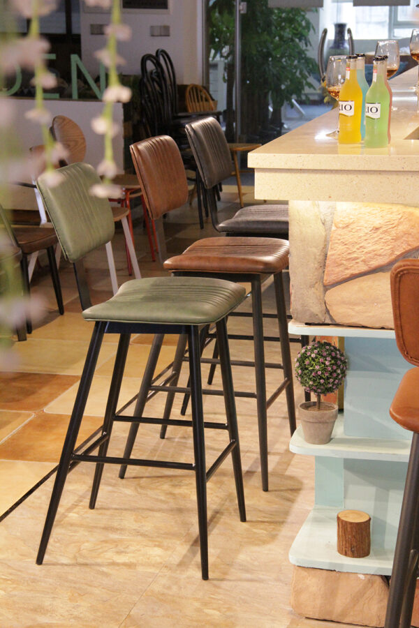 ByDezign Aviator Mid-Century Modern Tall Bar Stools in Colours at Bar