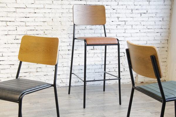 ByDezign Mid-Century Modern Retro School Range - Chairs and Bar Stool