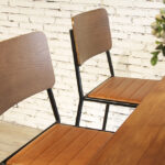 Mid-Century Modern Retro School Tall Bar Stools Seat & Back