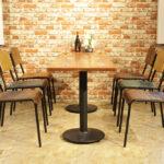 Retro School Dining Chair Colour Range in Restaurant Setting
