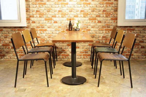 ByDezign Retro School Dining Chair Colour Range in Restaurant Setting