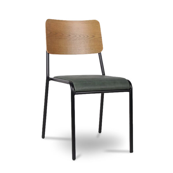 ByDezign Retro School Dining Chair - Green