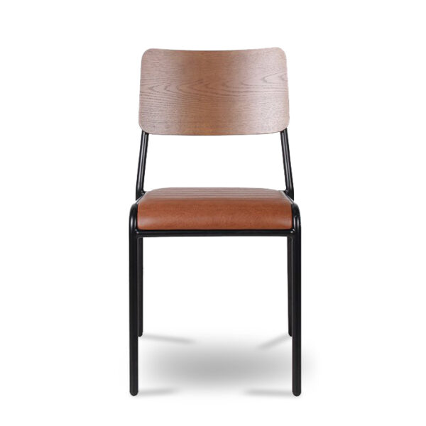 ByDezign Retro School Dining Chair - Tan (Front)