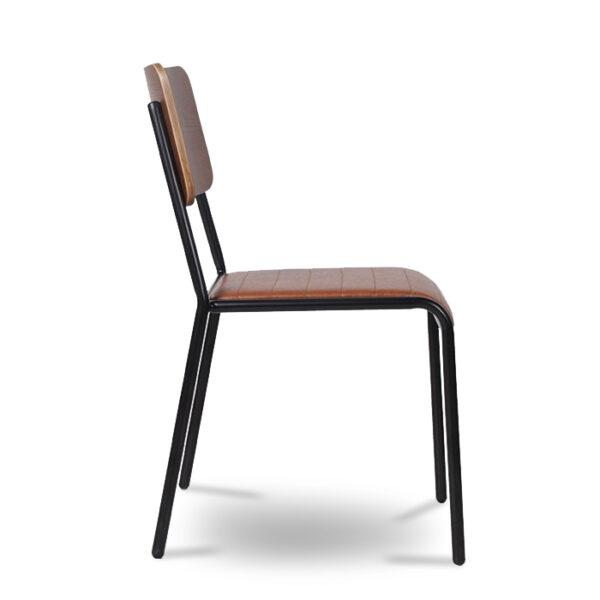 ByDezign Retro School Dining Chair - Tan (Profile)