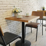 Retro School Dining Chairs and Table