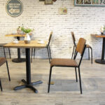Retro School Dining Chairs in Cafe Setting