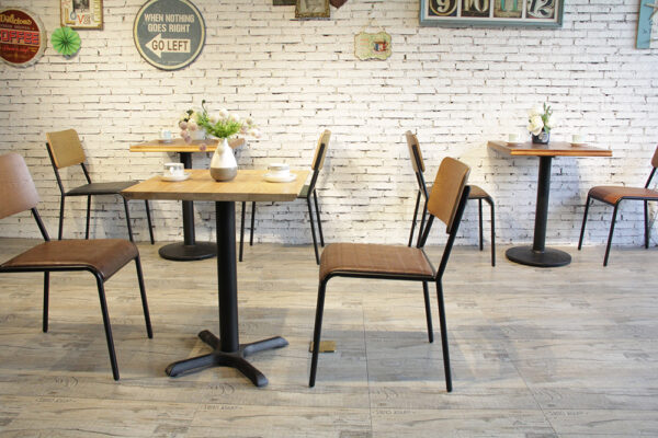ByDezign Retro School Dining Chairs in Cafe Setting