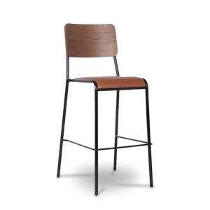 ByDezign Retro School Tall Bar Stool - Tan