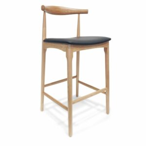 ByDezign Hans Wegner Replica Elbow Bar Stool - Natural Ash