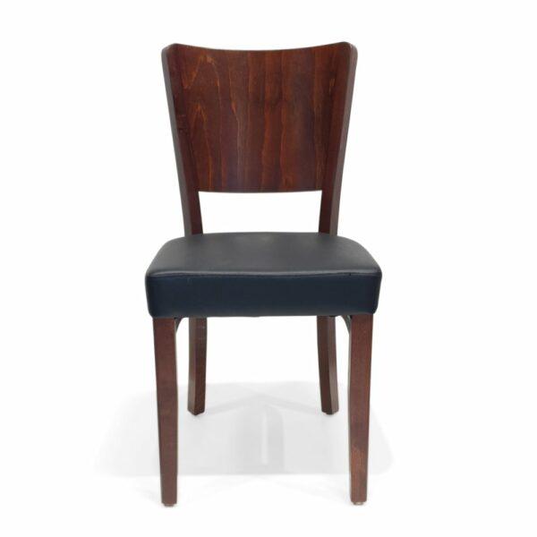 ByDezign Latte Dining Chair - Dark Walnut (Front)
