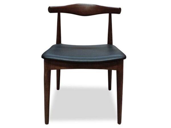 ByDezign Elbow Chair Replica - Dark Walnut (Front)
