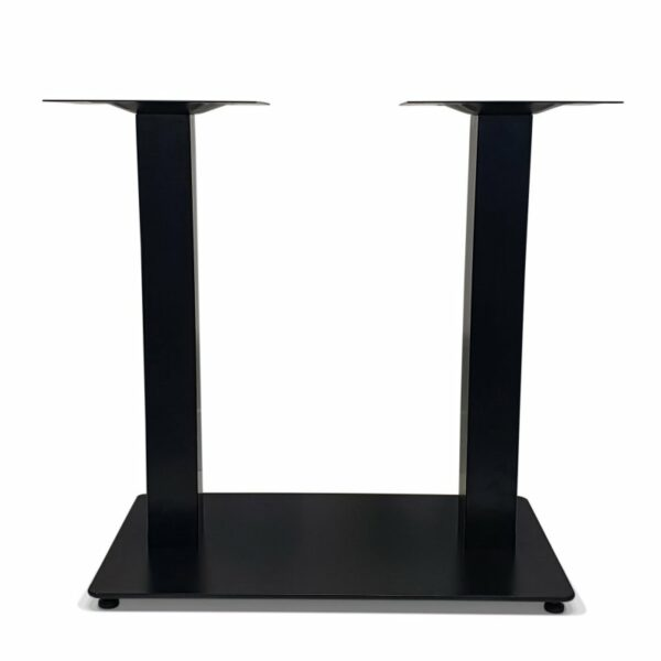 ByDezign Double Plate Table Base – Black (Front)