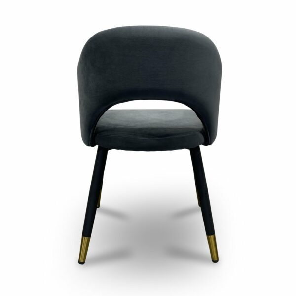 ByDezign Barossa Plush Dining Chair - Charcoal Fabric (Back)