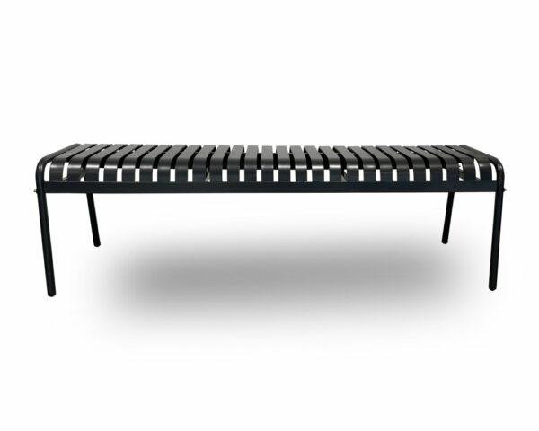 ByDezign Aluminium Garden Outdoor Bench Seat – Charcoal (Front)