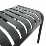 Aluminium Garden Outdoor Bench Seat – Charcoal (Seat)