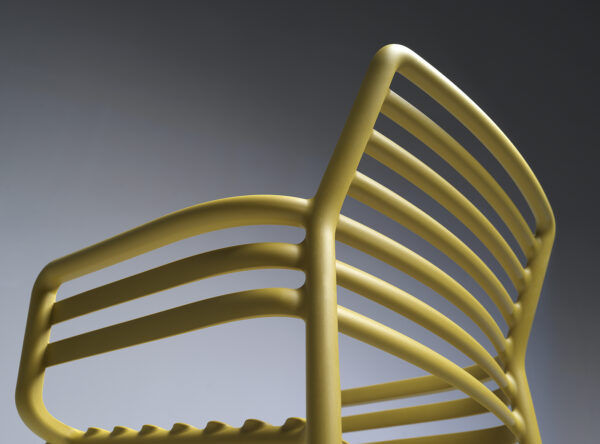 NARDI Doga Armchair Details - Back & Armrest Underside