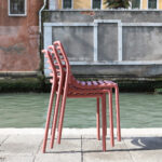 NARDI Doga Bistro Chair Stacked Together