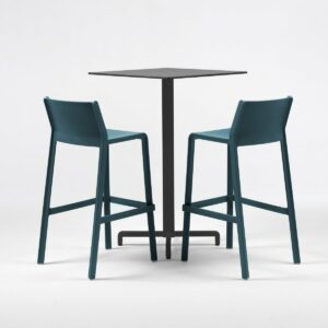 NARDI Fiore Trill 3-Piece Bar Leaner Set - Charcoal & Teal