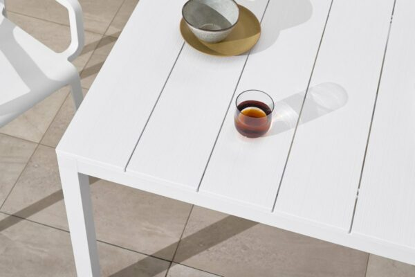NARDI Rio ALU 140-210 Extendable Table in White (Table Top Texture)