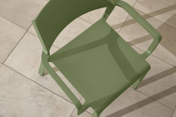 NARDI Trill Armchair in Olive Green on Patio
